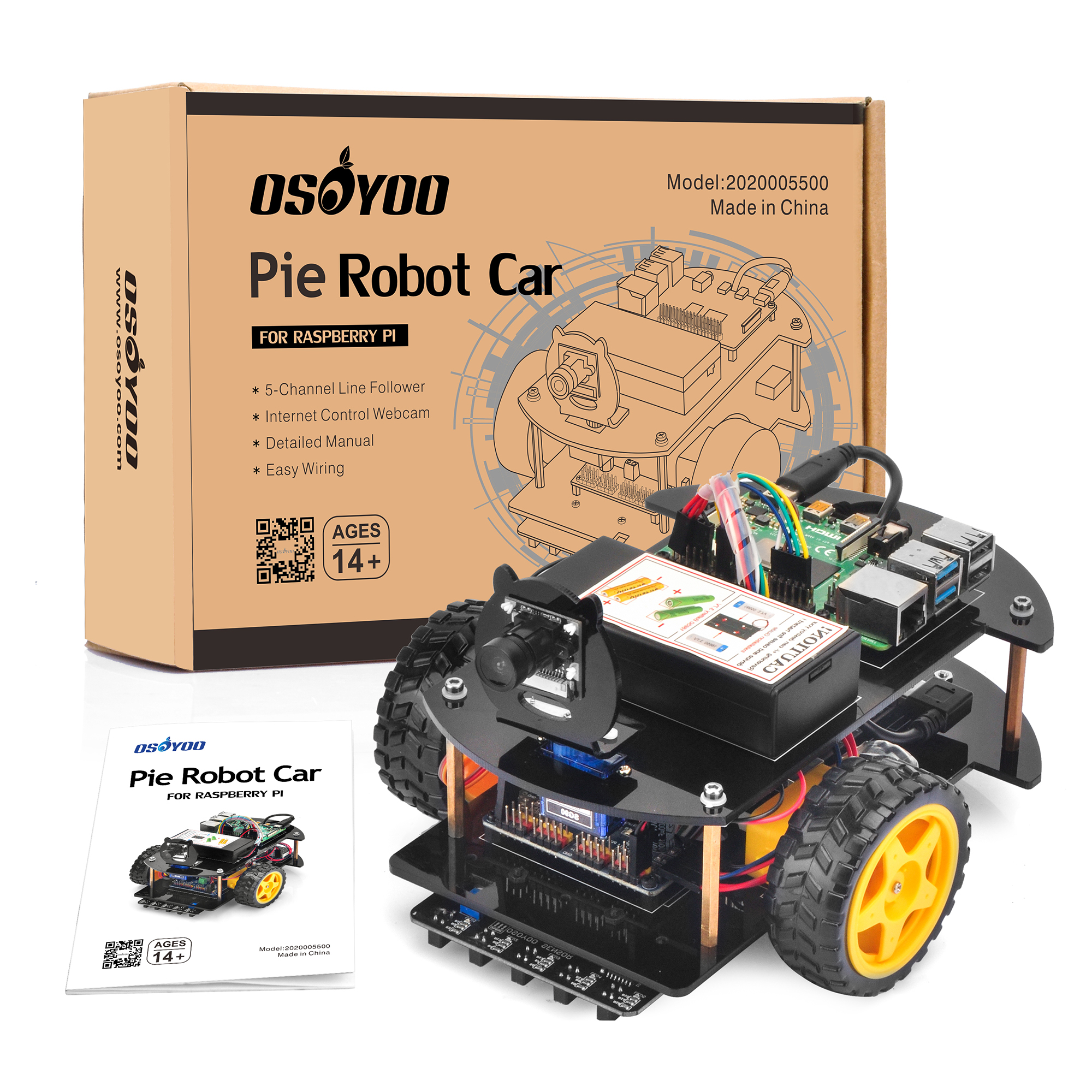 Raspberry Pi V2.0 Car Introduction Model#2020005500