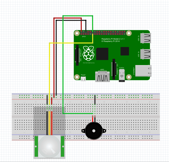 Use Raspberry Pi and PIR motion sensor to make IOT home