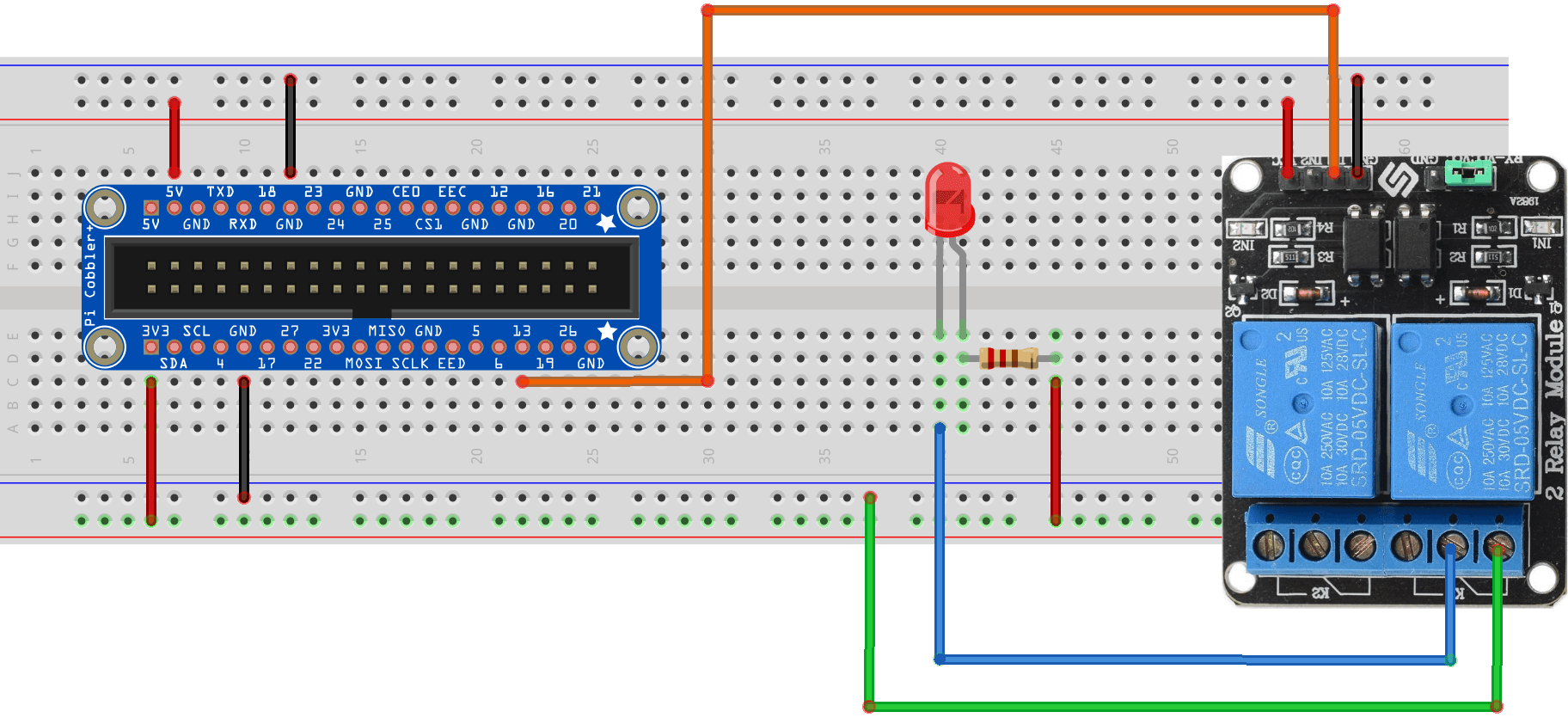 Use Raspberry Pi To Driver A Relay  Kookyecom - Normally open normally closed common relay