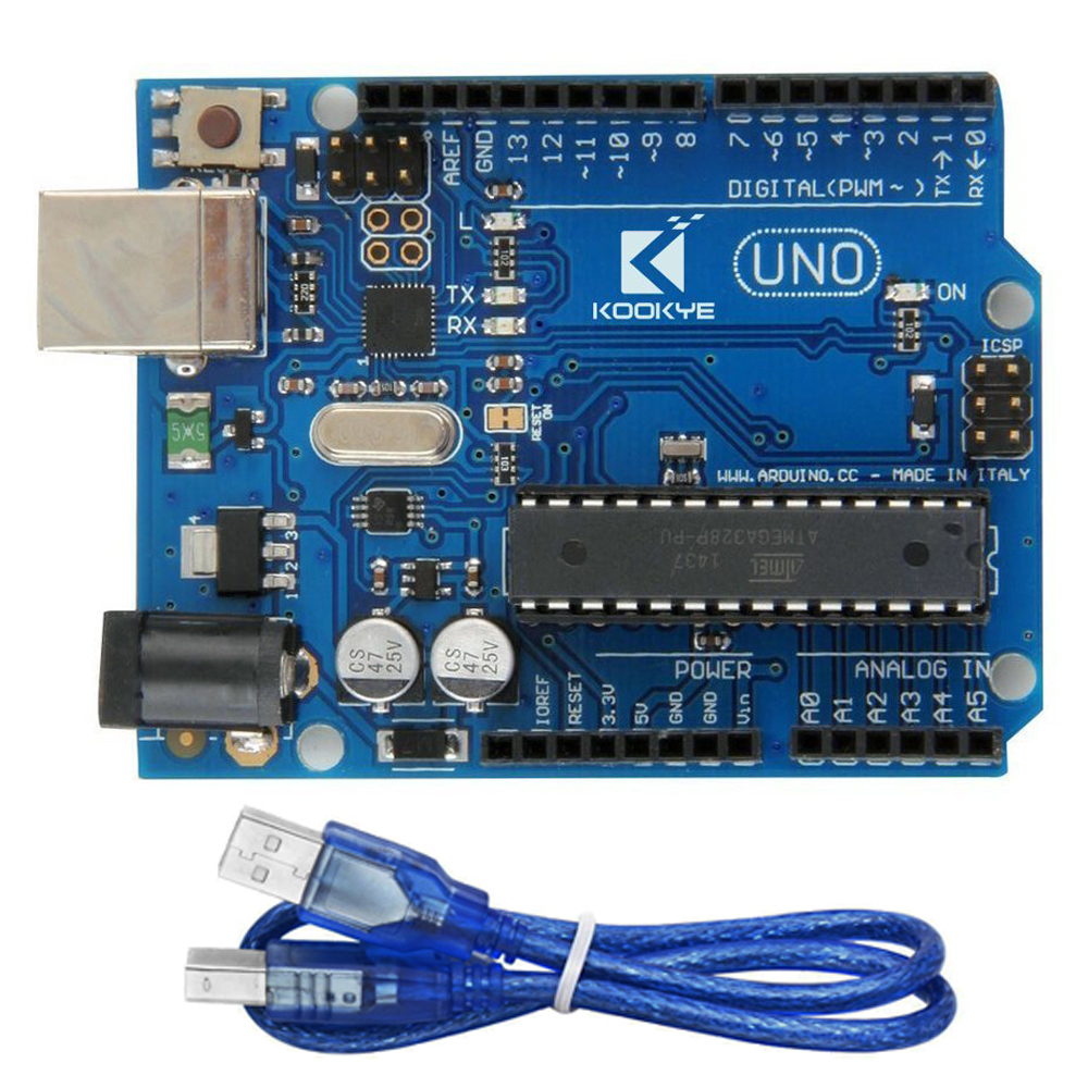 UNO R3 board and cable