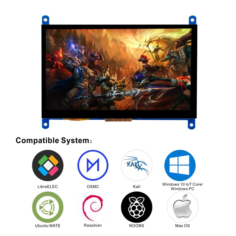7 Inch Touch Screen HD 1024*600 Display Driver Free for